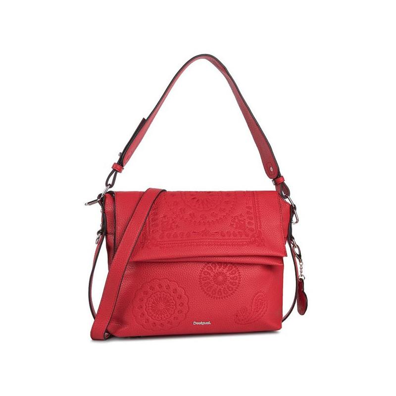 Desigual sac shopping bandoulière rouge