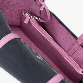 Lacoste Sac Cabas Reversible Anna Ebony Orchid ouvert