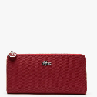 Lacoste Portefeuille Large zip Daily Rhubarb