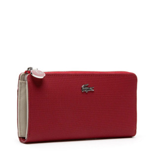 Lacoste Portefeuille Large zip Daily Rhubarb cote