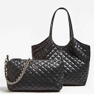 Guess Myriam Sac Shopping et Pochette 2 en 1 Black