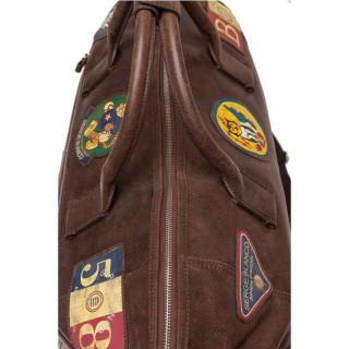 sac de voyage en cuir marron