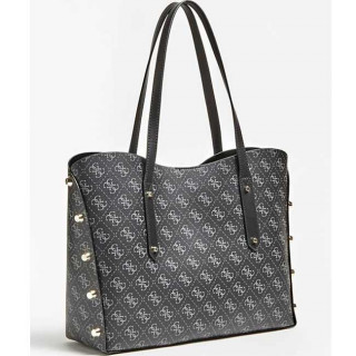 Guess Aline Sac Shopping et Pochette 2 en 1 Coal