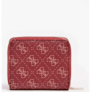 Guess Aline Portefeuille Compact Merlot dos