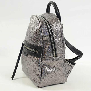 Lancaster Actual Tweed Lamé Sac A Dos 519-38 Argent