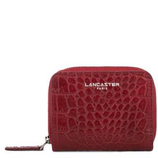 Lancaster Exotic Croco Portefeuille 126-25 Rouge