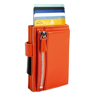 Ogone Porte Carte Cascade Zipper Orange