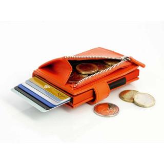 Ogone Porte Carte Cascade Zipper Orange