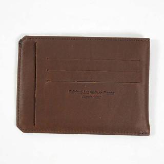 porte cartes homme cuir marron