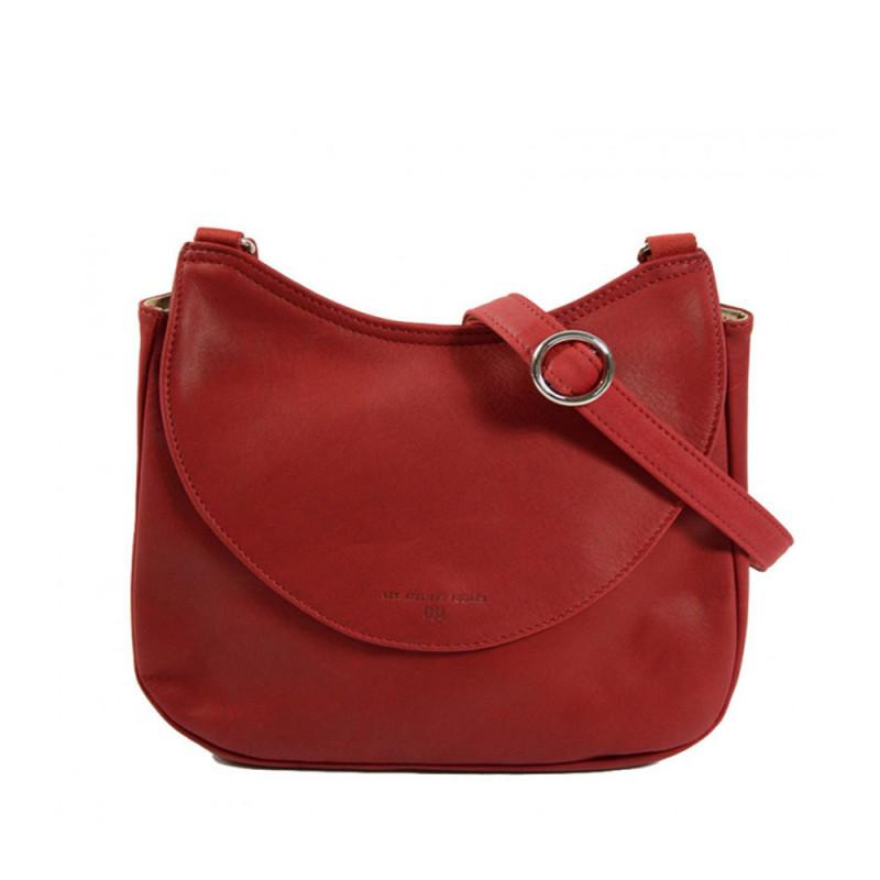 sac femme en cuir rouge
