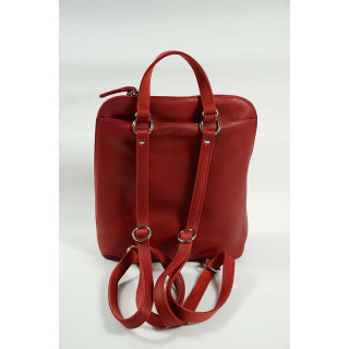 sac à dos femme cuir rouge