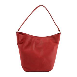 sac shopping femme cuir rouge