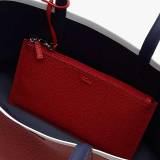 Lacoste Sac Cabas Reversible Anna Peatcoat Pompelan Red Mars ouvert