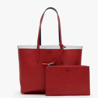 Lacoste Sac Cabas Reversible Anna Peatcoat Pompelan Red Mars face