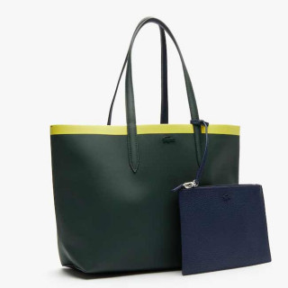 Lacoste Sac Cabas Reversible Anna Scarab Peatcoat Green Shee cote