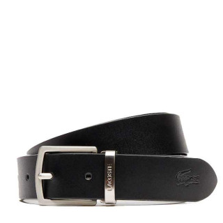 Lacoste Men's Classic Coffret 2 Ceintures Black Bark Brown