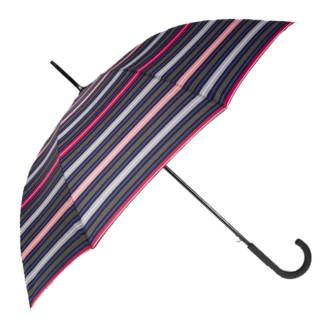 Isotoner Parapluie Canne Rayure Arpège