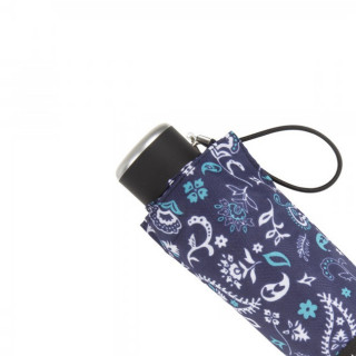 Isotoner Parapluie Mini Pliant Manuel Bandana Bleu