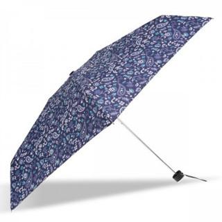 Isotoner Parapluie Mini Pliant Manuel Bandana Bleu 3