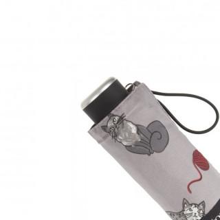 Isotoner Parapluie Mini Pliant Pelote Chat