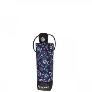 Isotoner Parapluie Mini Pliant Automatique Bandana Bleu plie