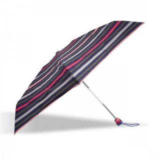 Isotoner Parapluie Mini Pliant Automatique Rayure Arpège