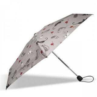 Isotoner Parapluie Mini Pliant Automatique Pelote de Chat