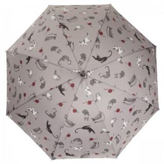 Isotoner Parapluie Pliant Manuel Petit Prix Pelote de Chat
