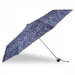Isotoner Parapluie Pliant Manuel Petit Prix Bandana Bleu cote