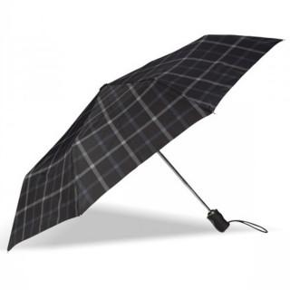 Isotoner Parapluie Homme Pliant Automatique X-TRA Solide Carreaux  ouvert