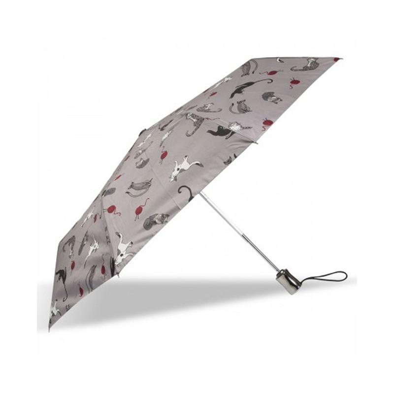 Isotoner Parapluie Pliant Automatique X-TRA Solide Pelote de Chat cote