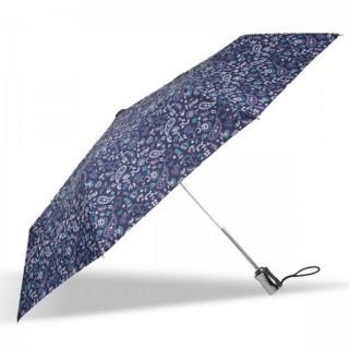 Isotoner Parapluie Pliant Automatique X-TRA Solide Bandana Bleu cote
