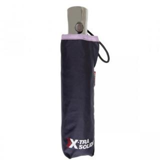 Isotoner Parapluie Pliant Automatique X-TRA Solide Marine Lilas OUVERT