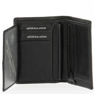 Arthur et Aston Elegance Portefeuille 2 Soufflets 576-642 Noir
