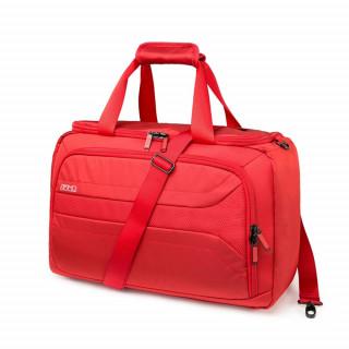 valise souple cabine femme rouge