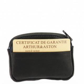 Arthur et Aston Louis Porte Monnaie 94-154 Noir Bleu