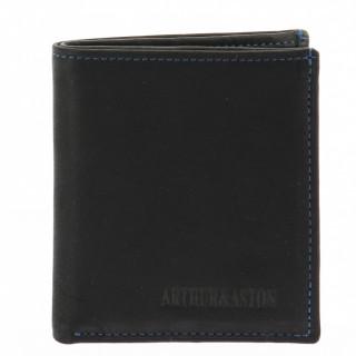 Arthur et Aston Louis Portecarte 94-702 Noir Bleu face