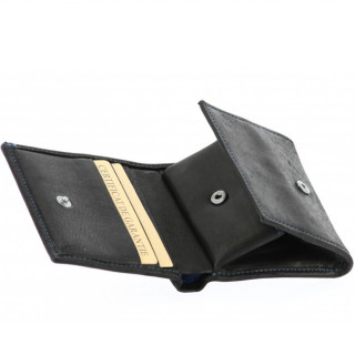 Arthur et Aston Louis Porte Monnaie Boîte 94-771 Noir Bleu face