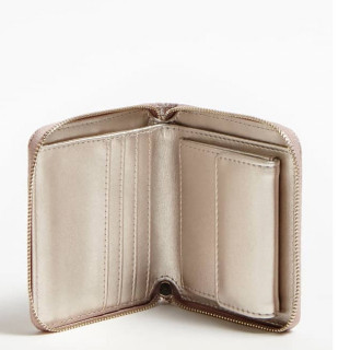 Guess Aline Portefeuille Compact Rosewood ouvert