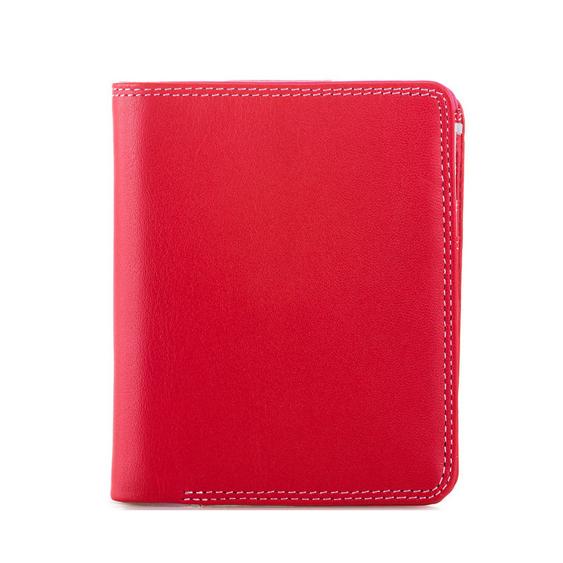 Mywalit Portefeuille Zip Moyen Cuir Nappa Ruby