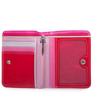 Mywalit Portefeuille Zip Moyen Cuir Nappa Ruby ouvert 2