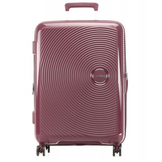 American Tourister Sound Box Spinner 67 cm Valise Trolley 4 Roues Burgundy