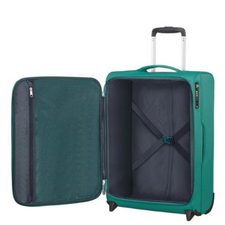 American Tourister Lite Ray 55 cm Valise Cabine Trolley 2 Roues Forest Green ouvert