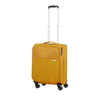 American Tourister Lite Ray 55 cm Valise Cabine Trolley 4 Roues Extensible Golden Yellow