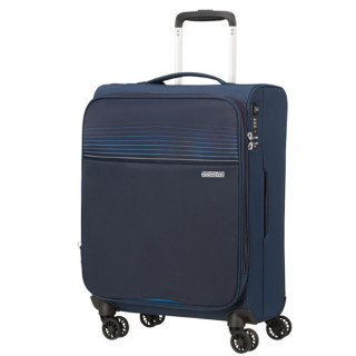 American Tourister Lite Ray 55 cm Valise Cabine Trolley 4 Roues Extensible Midnight Navy