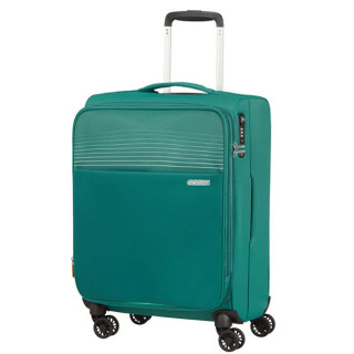 American Tourister Lite Ray 55 cm Valise Cabine Trolley 4 Roues Extensible Forest Green