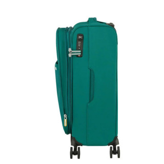 American Tourister Lite Ray 55 cm Valise Cabine Trolley 4 Roues Extensible Forest Green tsa