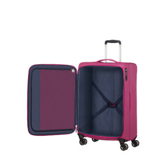 American Tourister Lite Ray 69 cm Valise Trolley 4 Roues Magent A Haze ouvert