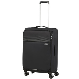 American Tourister Lite Ray 69 cm Valise Trolley 4 Roues Jet Black profil