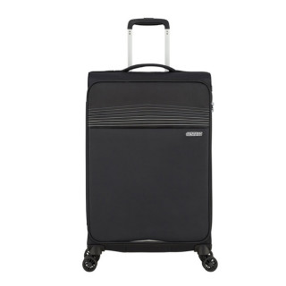 American Tourister Lite Ray 69 cm Valise Trolley 4 Roues Jet Black face